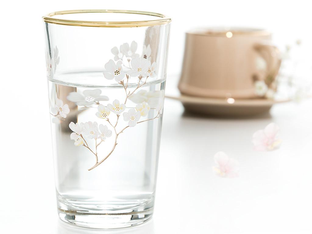 Sakura Cam 6'lı Kahve Yanı Su Bardağı 100 Ml Şeffaf