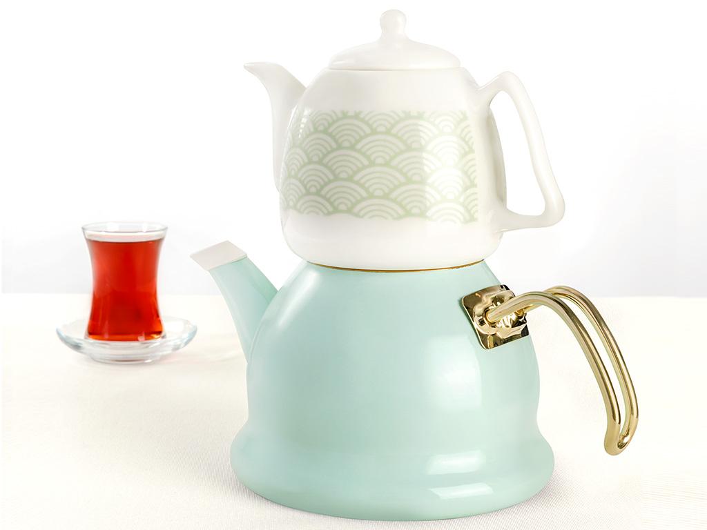 Modest Emaye Çaydanlık 2,5 L Seledon