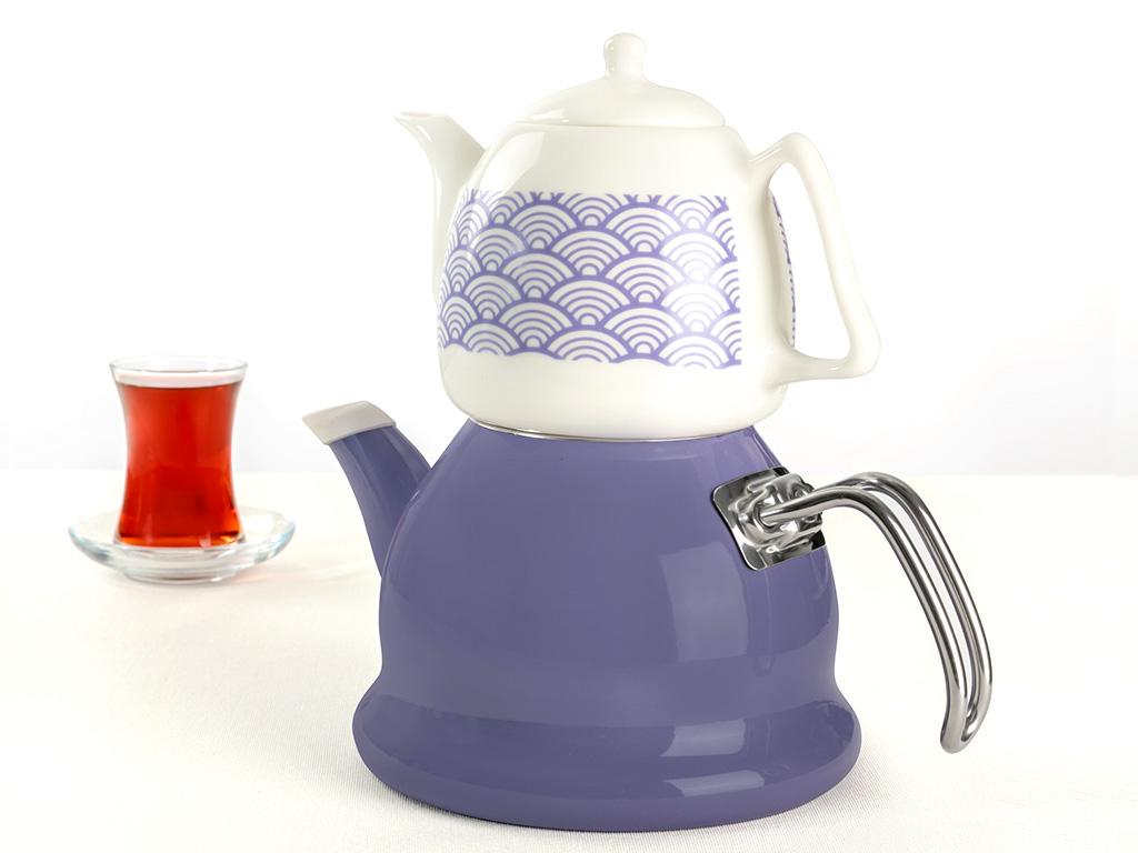 Vanity Emaye Çaydanlık 2,5 L Mor