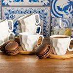 Hull Bambu 6'lı Kahve Fıncan Takımı 8,3x6,4x5,4 Cm Bej