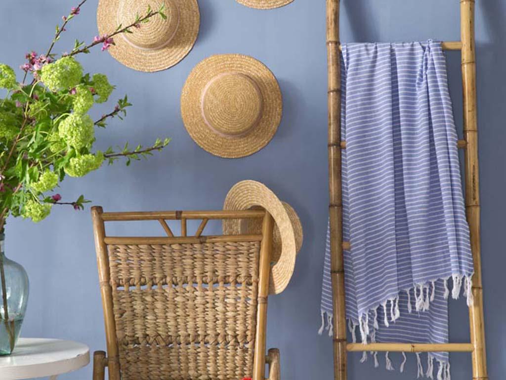 Summer Stripe Pamuk Peştamal 100x170 Cm Lacivert