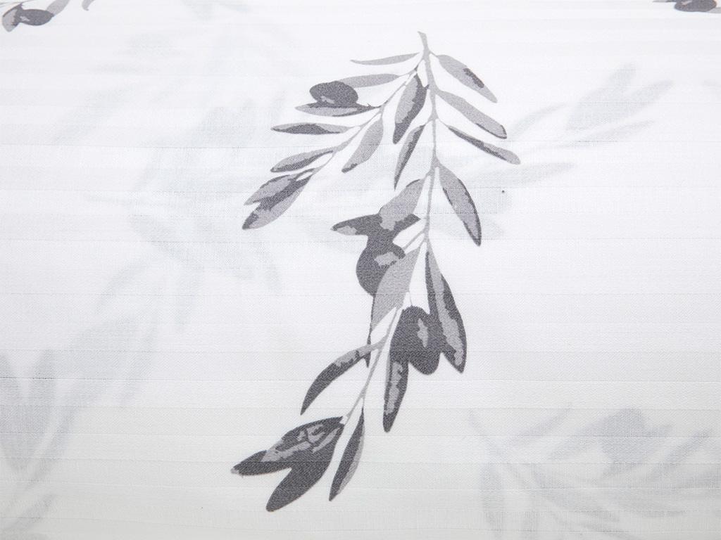 Olive Pamuk Saten Super King Nevresım 260x220 Cm Beyaz