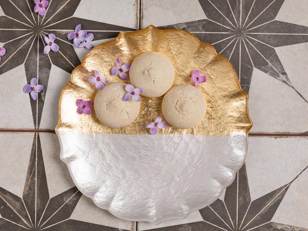 Golden Cam Servis Tabağı 27 Cm Gold