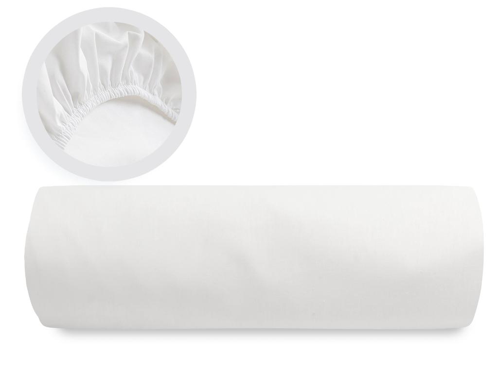 Düz 2 Pamuklu Çift Kişilik Lastıklı Çarşaf 160X200 Cm Beyaz