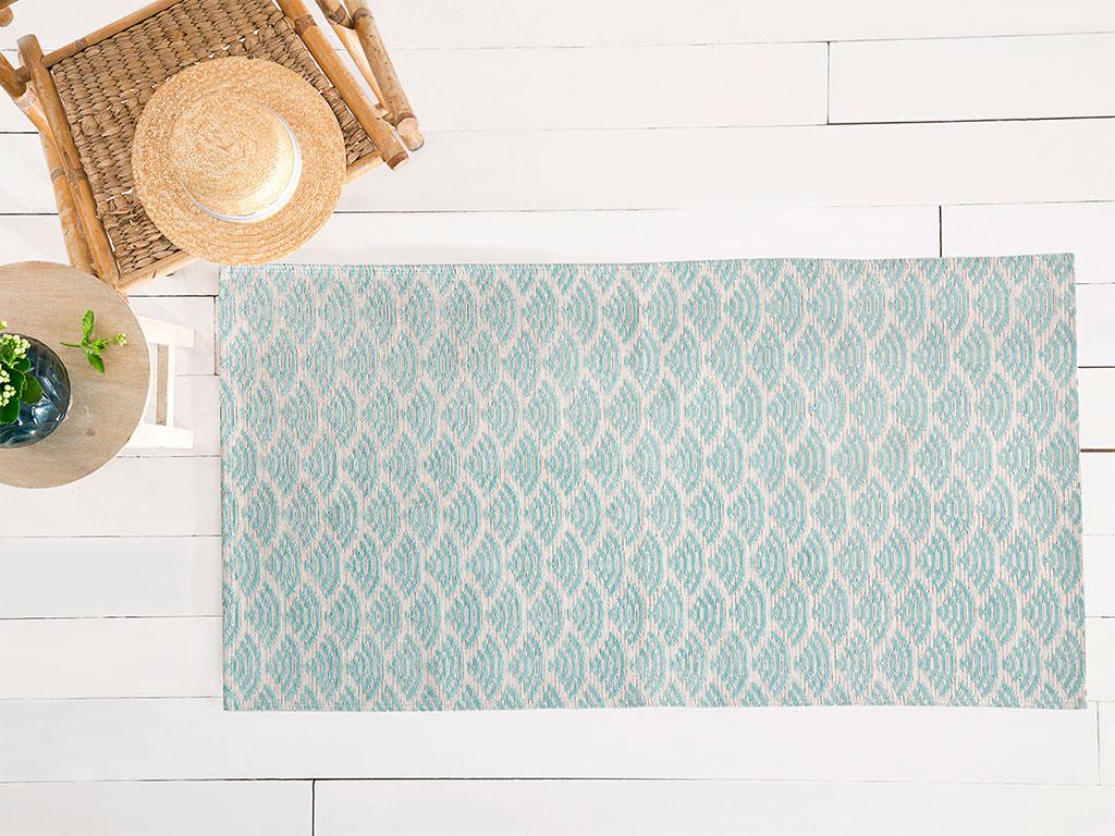 Sea Effect Pamuk Polyester Halı 80x150 Cm Seledon