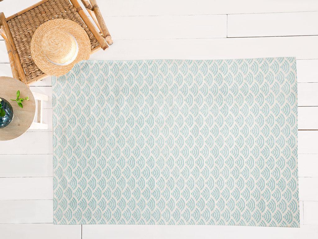 Sea Effect Pamuk Polyester Halı 120x180 Cm Seledon