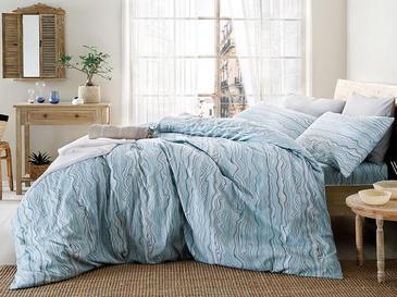 Bluewaves Pamuklu King Size Nevresim 240x220 Cm Mavi