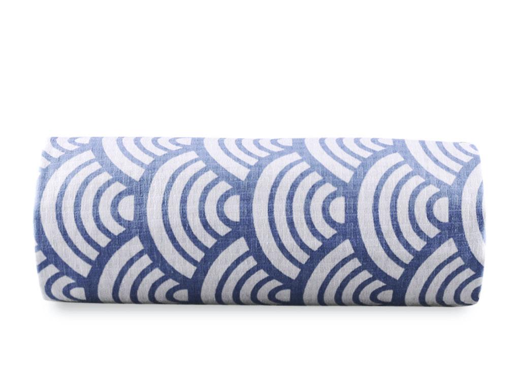Sea Waves Baskılı Çift Kişilik Pıke 220x240 Cm Mavi