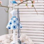 Water Rose Takılık 12x8,5x32 Cm Mavi-beyaz