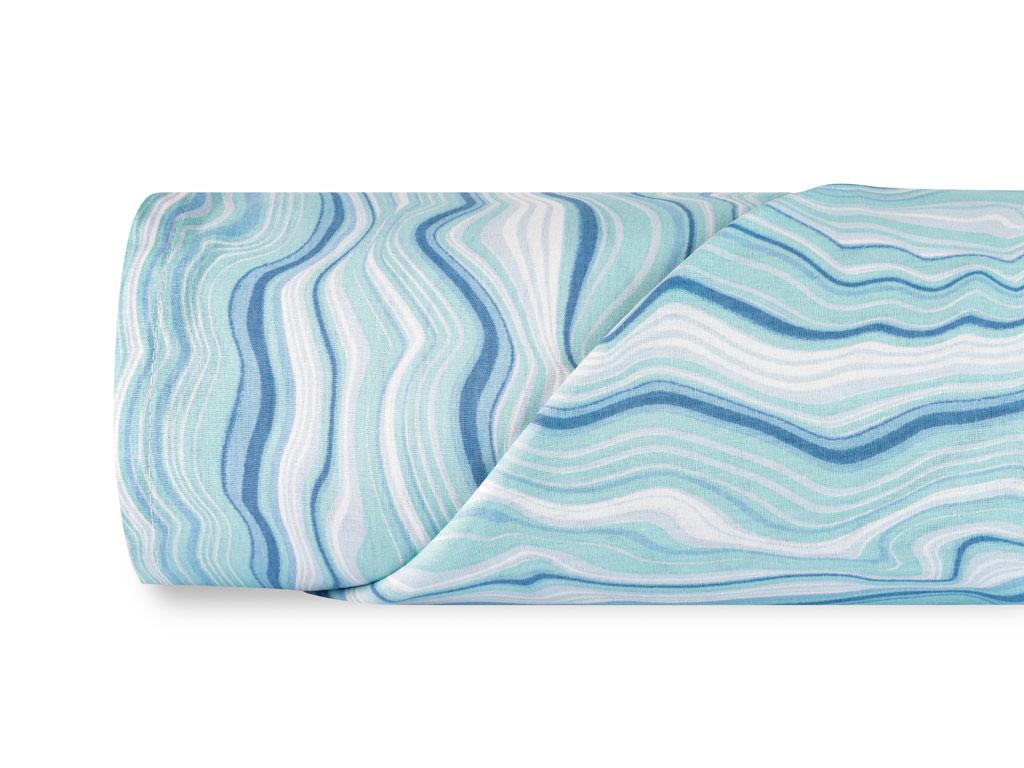Bluewaves Pamuklu Çift Kişilik Çarşaf 240x260 Cm Mavi