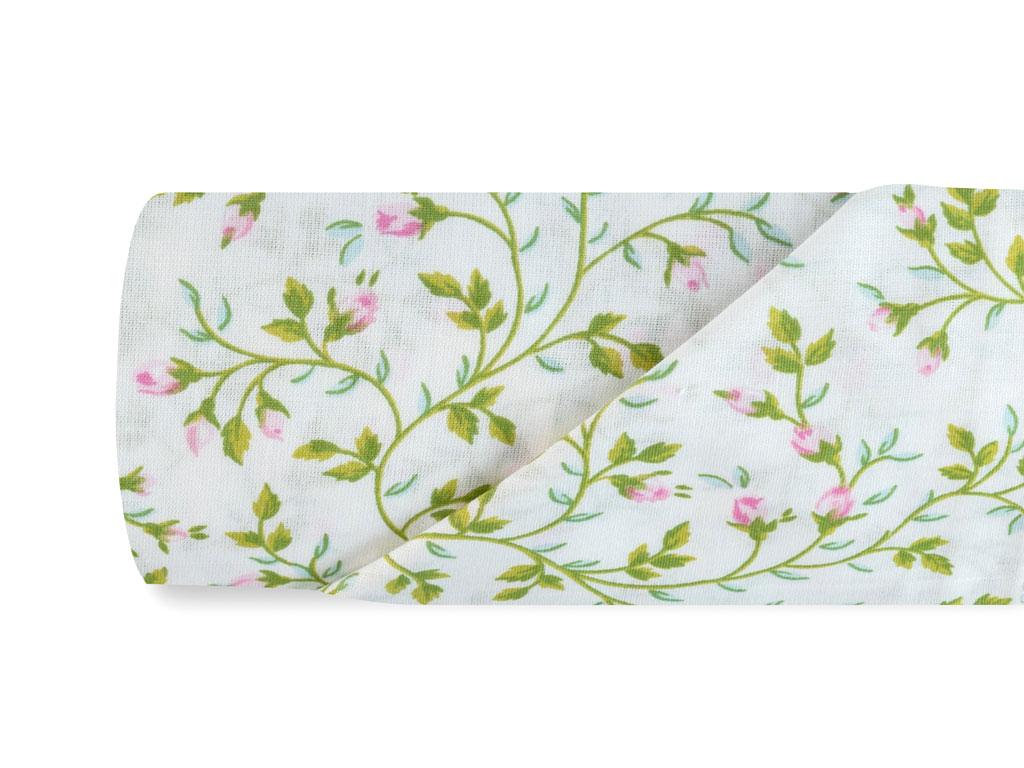 Rosebella Pamuklu Çift Kişilik Çarşaf 240x260 Cm Yeşil