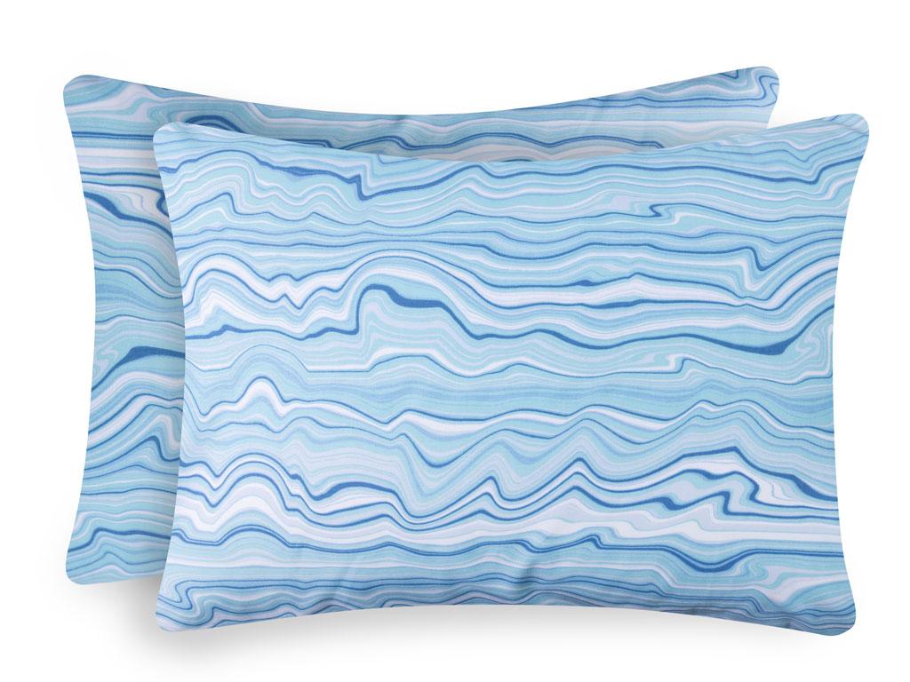 Bluewaves Pamuklu 2'li Yastık Kılıfı 50x70 Cm Mavi