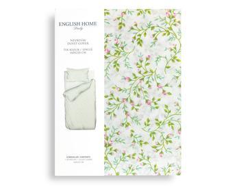 Rosebella Pamuklu Tek Kişilik Nevresim 160x220 Cm Yeşil