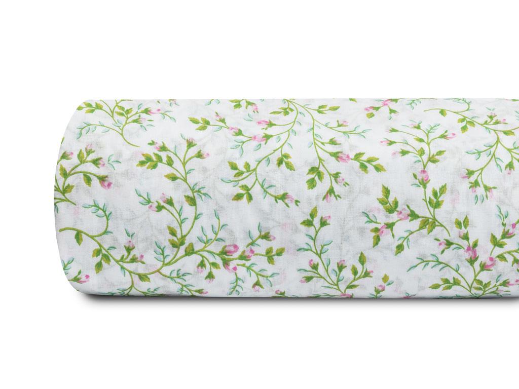Rosebella Pamuklu Tek Kişilik Nevresım 160x220 Cm Yeşil