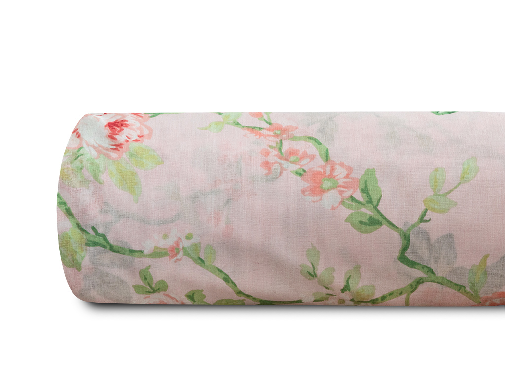 Vanity Rose Pamuklu Tek Kişilik Nevresım 160x220 Cm Pembe