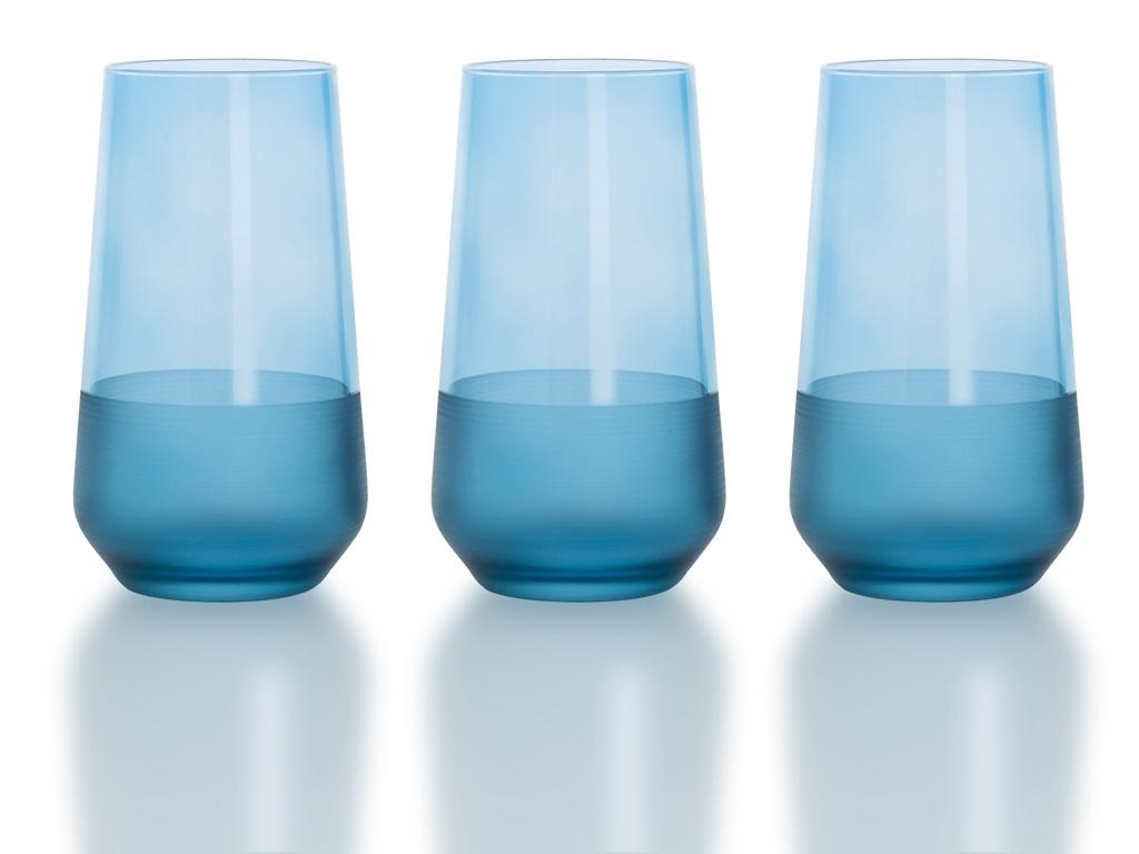 Modest Cam 3'lü Meşrubat Bardağı 470 Ml Mavi
