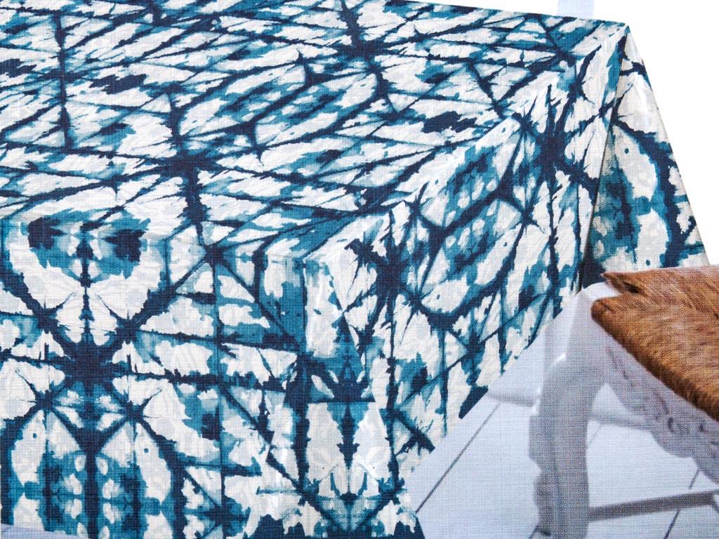 Modest Pvc Masa Örtüsü 200x140 Cm Beyaz - Lacivert