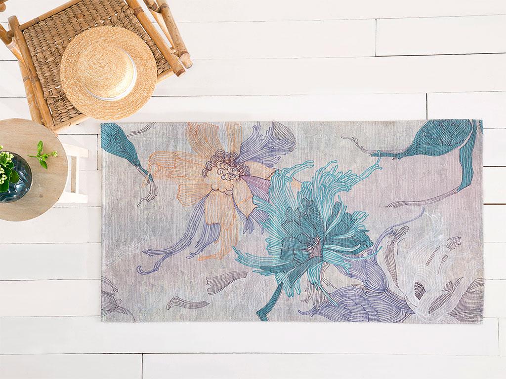 Zen Pamuk Polyester Halı 80x150 Cm Renkli