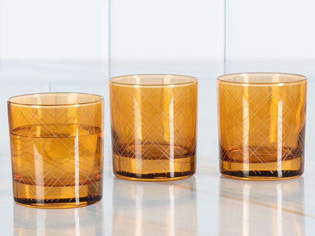 Vanity Cam 3'lü Meşrubat Bardağı 300 Ml Amber