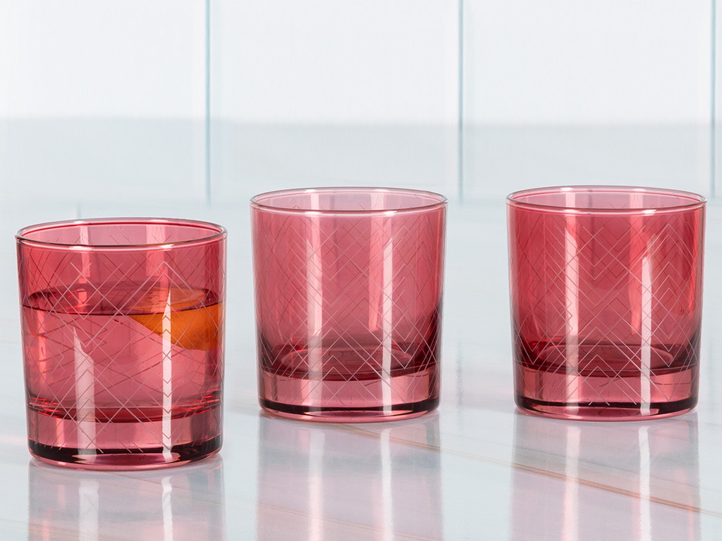 Vanity Cam 3'lü Meşrubat Bardağı 300 Ml Kırmızı