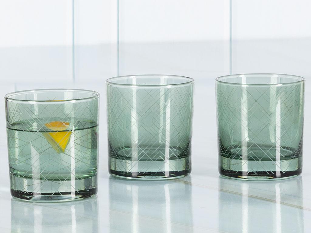 Vanity Cam 3'lü Meşrubat Bardağı 300 Ml Seledon