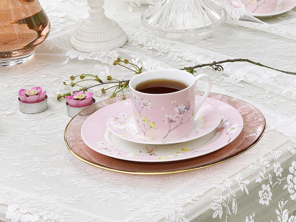 Sakura New Bone 2'li Çay Fıncanı Takımı 200 Ml Pembe