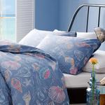 Sea Dreams Pamuklu 2'li Yastık Kılıfı 50x70 Cm Mavi