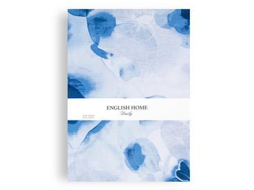 Water Roses Pamuklu Çift Kişilik Çarşaf 240x260 Cm Mavi