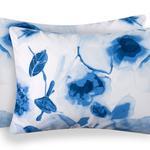 Water Roses Pamuklu 2'li Yastık Kılıfı 50x70 Cm Mavi