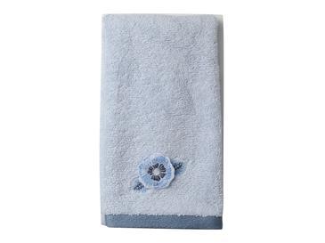 Water Roses Nakışlı El Havlusu 30x45 Cm Mavi