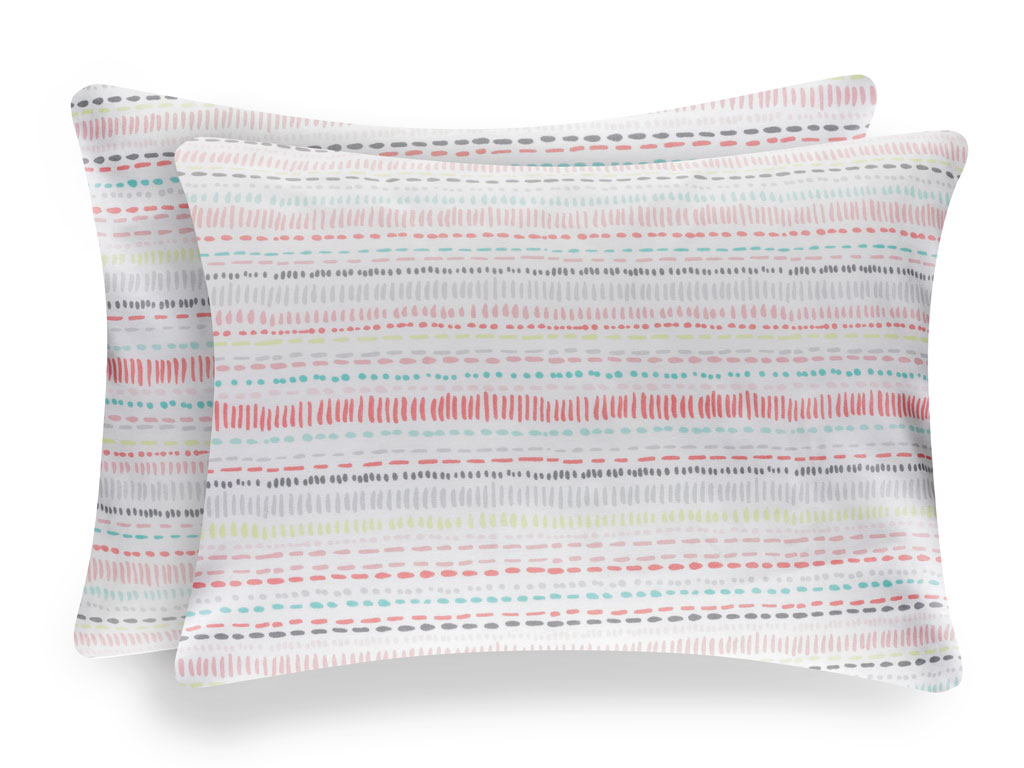 Big dots pamuklu 2'li çocuk yastık kılıfı 50x70 cm pembe
