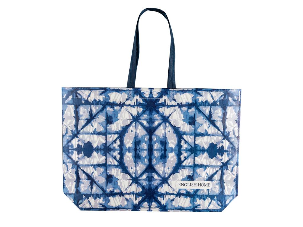 Sea batik alışverış çantası 54,5x38 cm beyaz