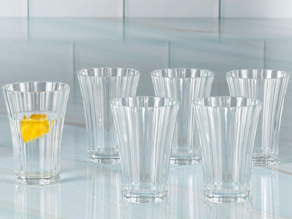 Dessa Cam 6'lı Kahve Yanı Su Bardağı 110 Ml Şeffaf