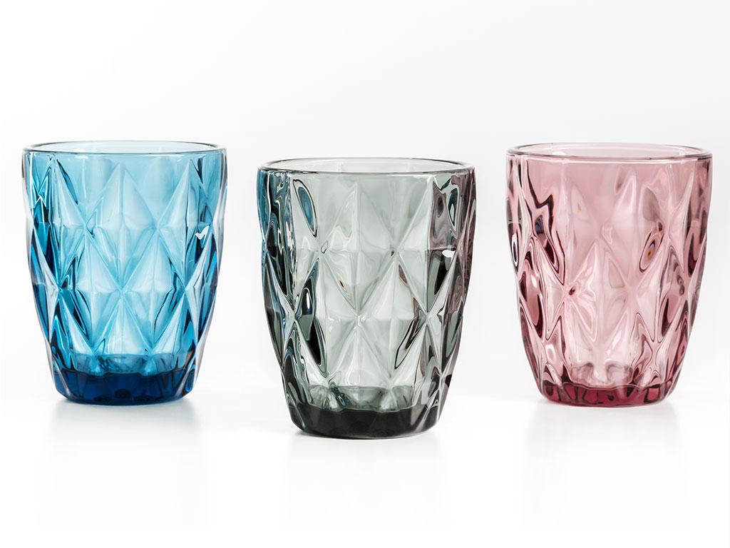 Olena Cam 3'lü Meşrubat Bardağı 265 Ml Renkli