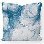Marbled Blue Çift Taraflı Kırlent 45x45 Cm Mavi