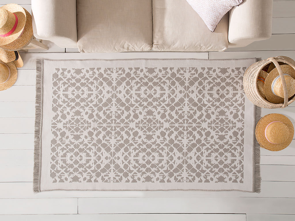 Batik Jakarlı Kılım 80x150 Cm Gri