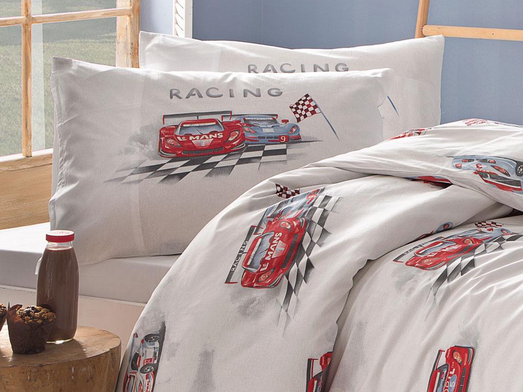 Fast Cars Pamuklu 2'li Çocuk Yastık Kılıfı 50x70 Cm Mavi