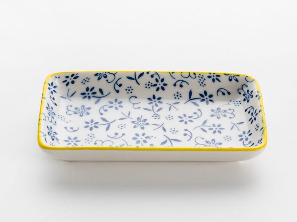 İsabel Porselen Tekli Kayık Tabak 13 Cm Sarı