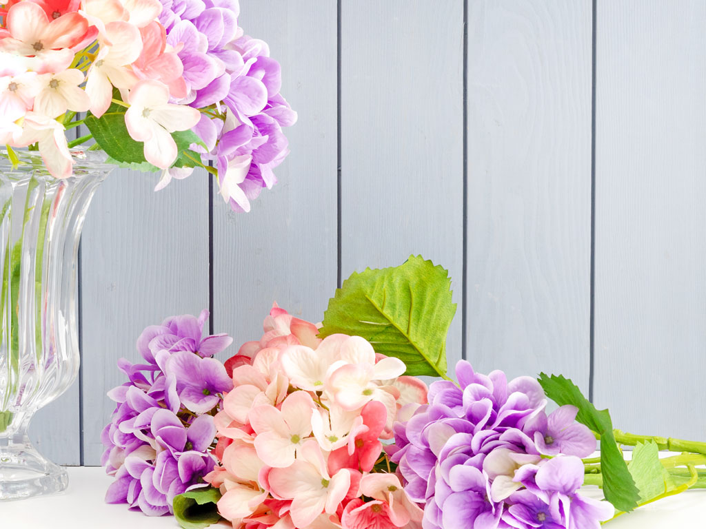 Wild Hortensia Yapay Çıçek 56 Cm Mor