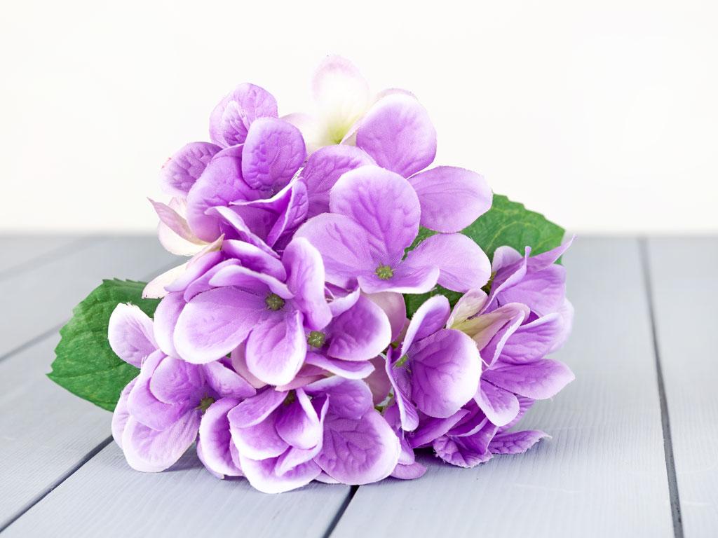 Wild Hortensia Yapay Çiçek 56 Cm Mor