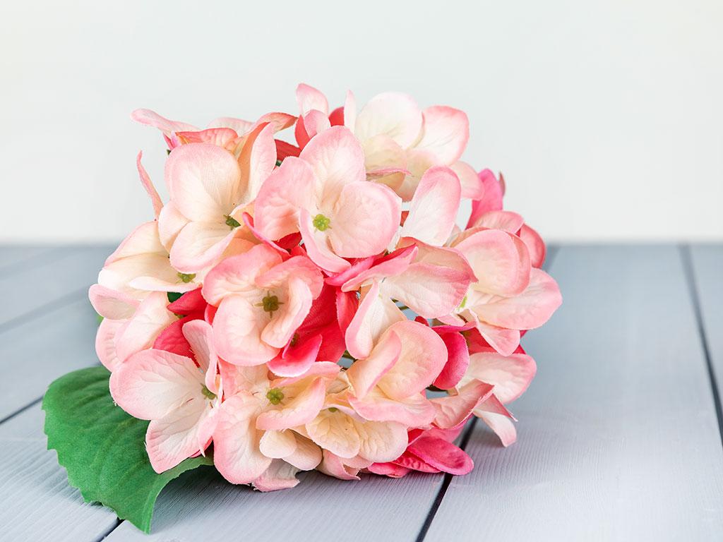 Wild Hortensia Yapay Çıçek 56 Cm Pembe