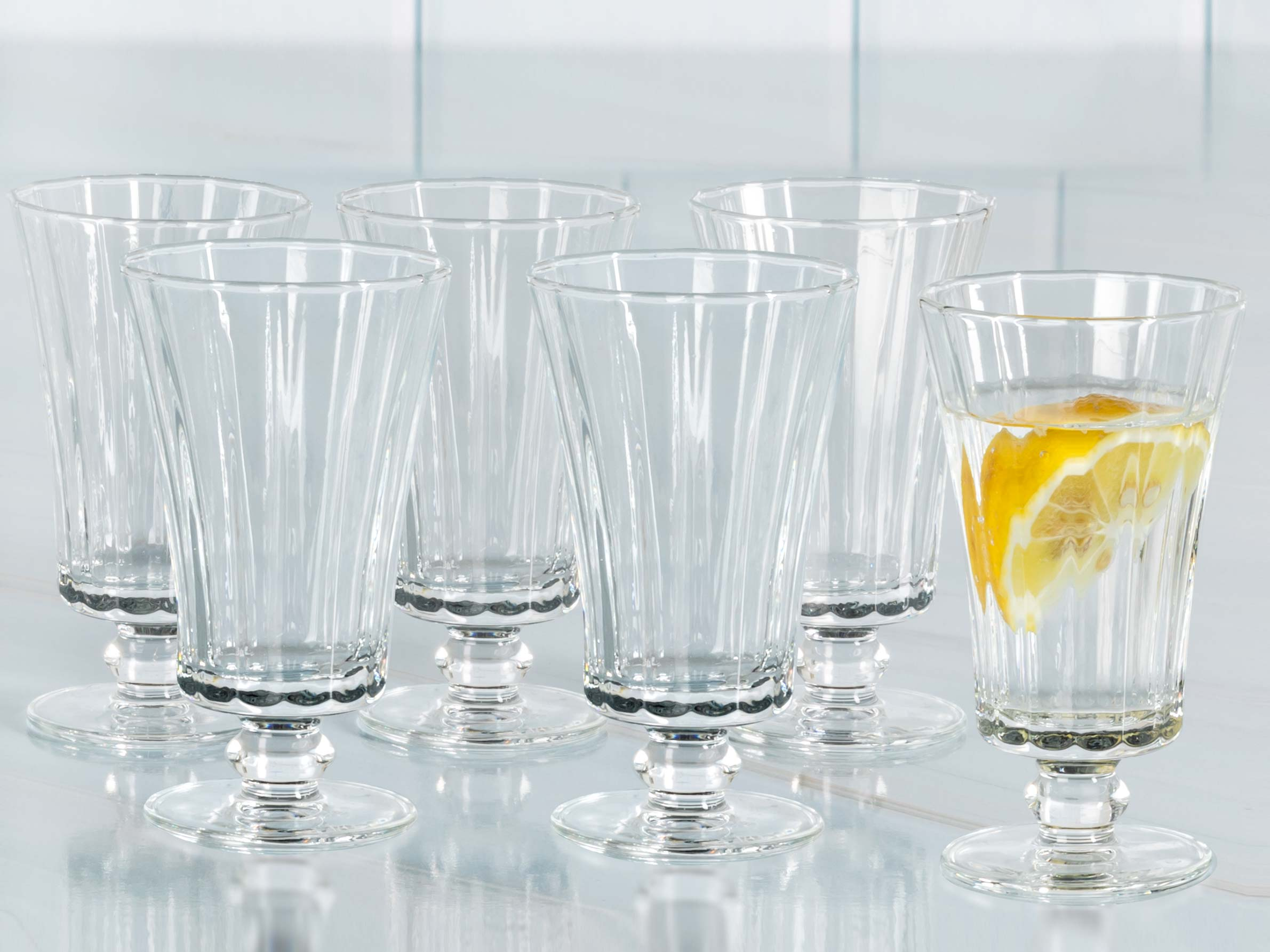 Daina Cam 6'lı Ayaklı Kahve Yanı Su Bardağı 110 Ml Şeffaf