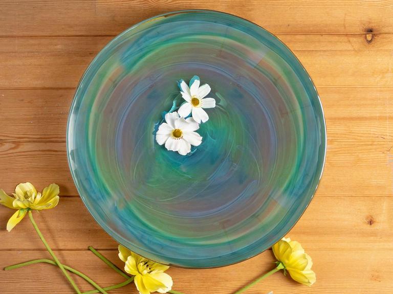 Fancy Dekoratif Tabak 40 Cm Mavi