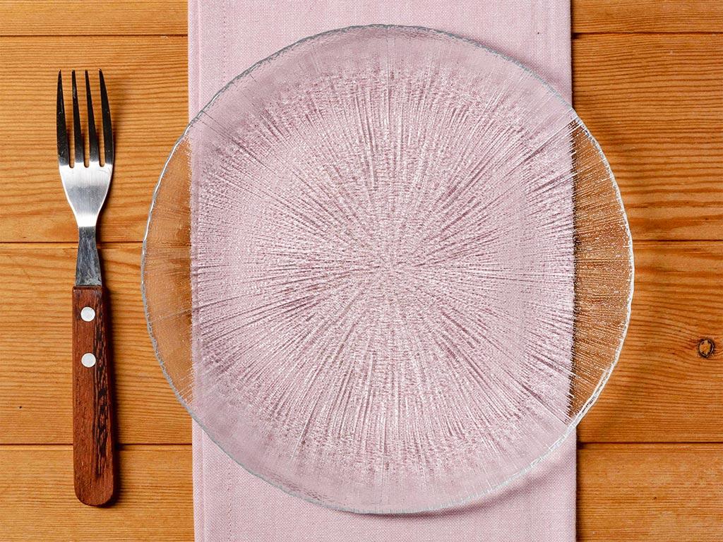 Stery Cam Pasta Tabağı 21 Cm Şeffaf