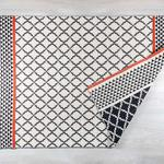 Andrea Pamuklu Halı 120x180 Cm Siyah-bordo