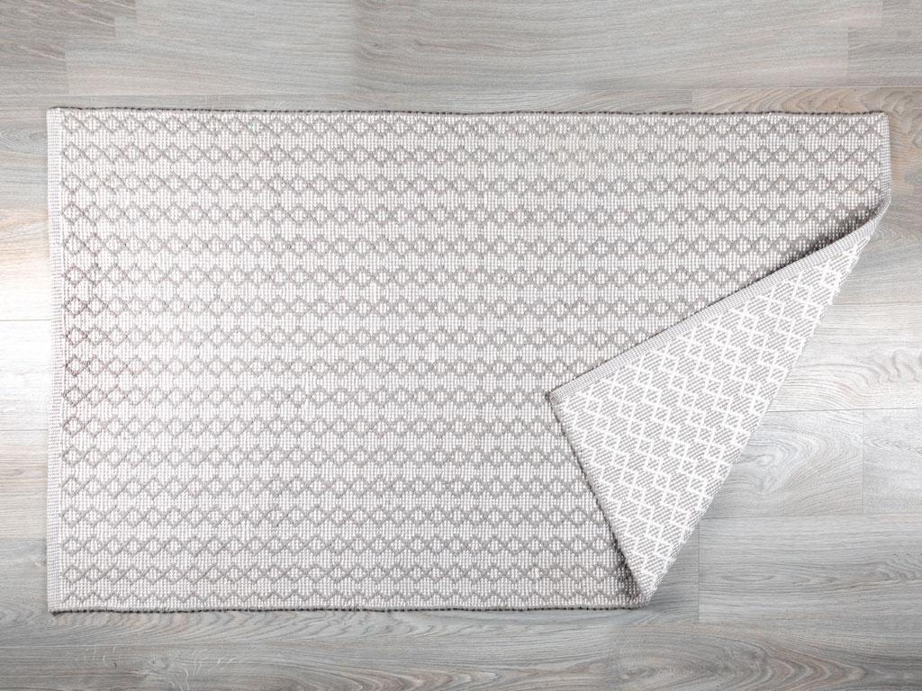 Macy Pamuklu Halı 90x150 Cm Bej - Beyaz