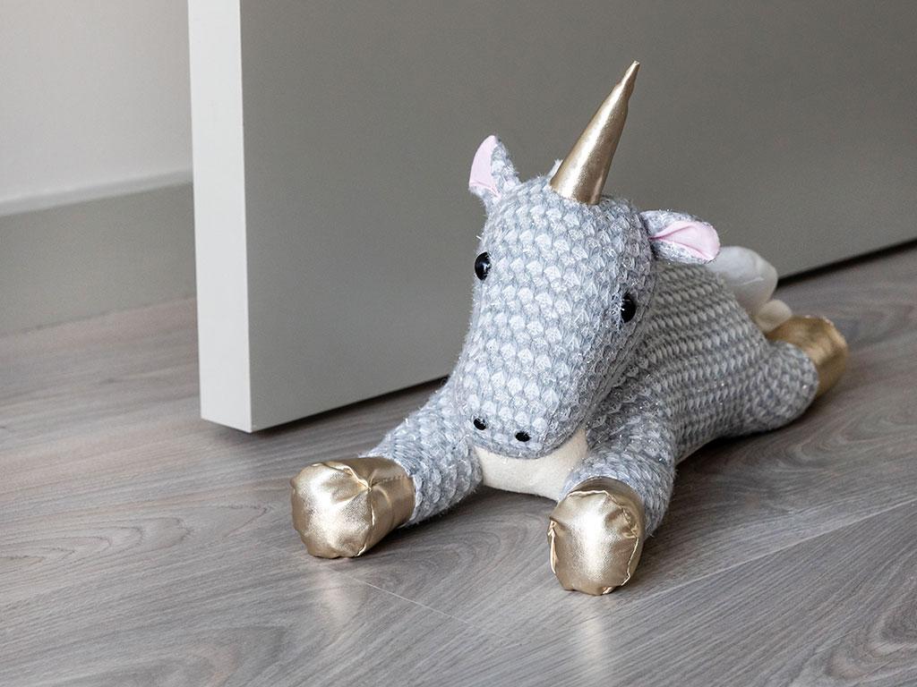 Baby Unicorn Kapı Önü Ağırlığı 21x36x23 Cm Renkli