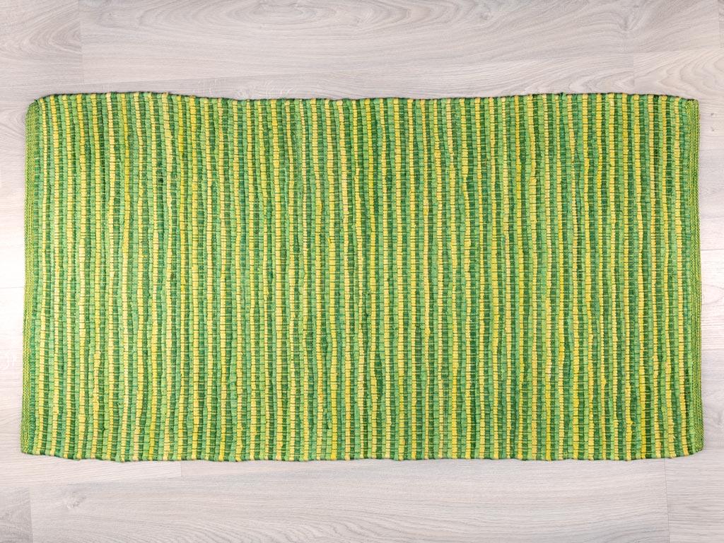 Vivacious Pamuklu Halı 70x140 Cm Yeşil