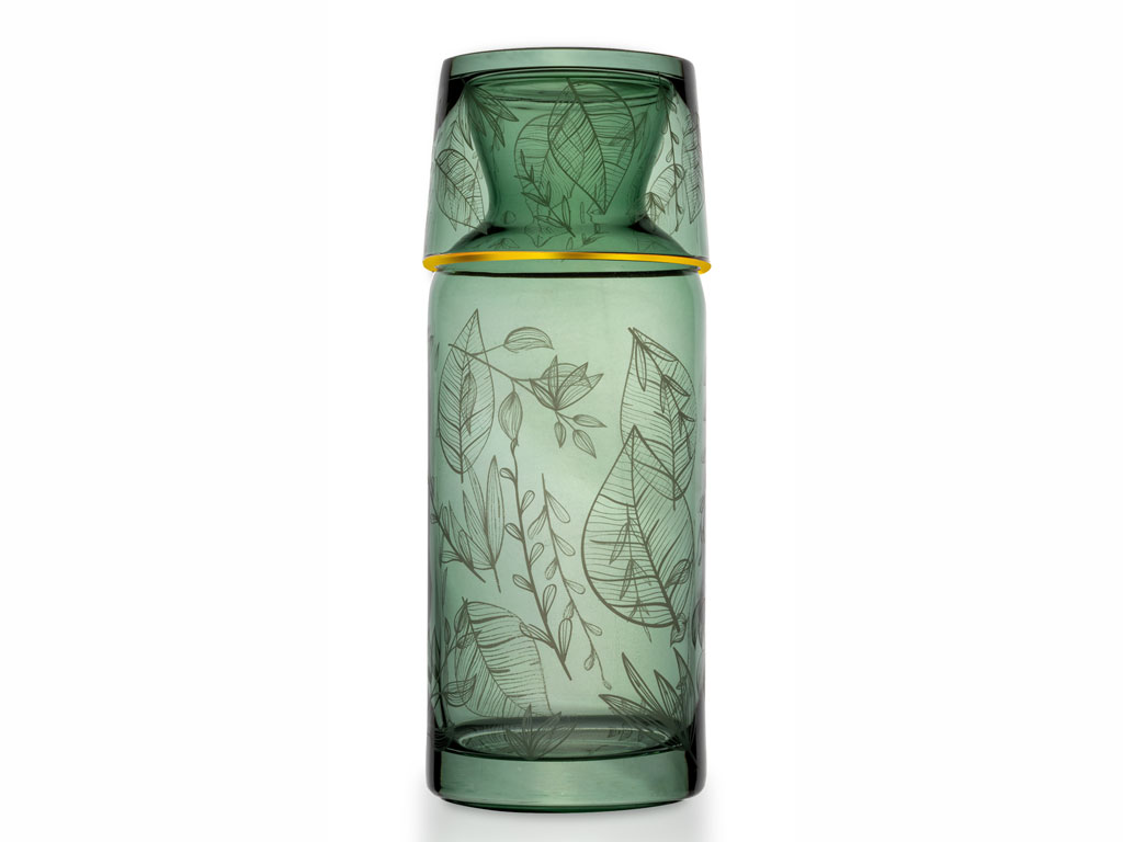 Laura Cam Başucu Meşrubat Bardağı 700 Ml Yeşil