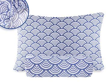 Sea Waves Pamuk Tek Kişilik Lastikli Çarşaf Takımı 100x200 Cm Mavi